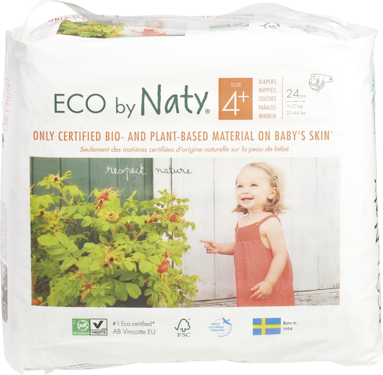 Biologische Naty Luiers 4+ maxi plus 9-20 kg. 24 st