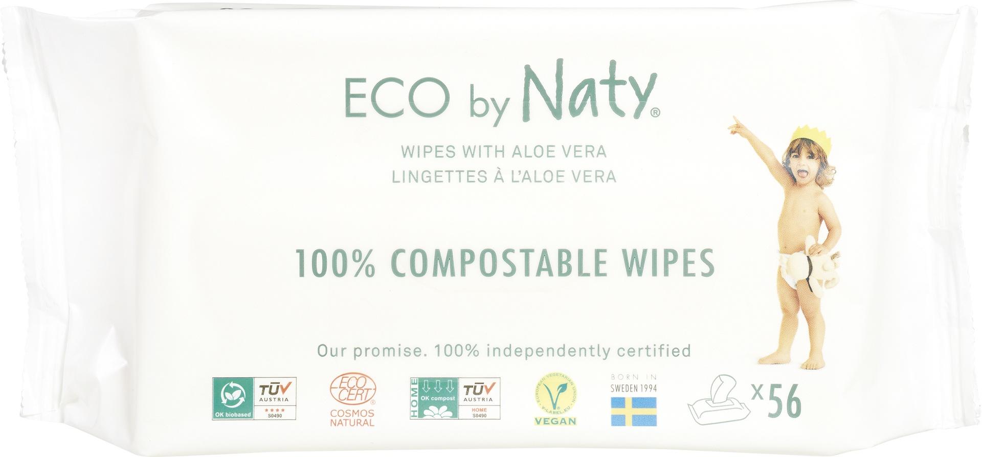 Biologische Naty Naty Babydoekjes aloe-vera 56 st