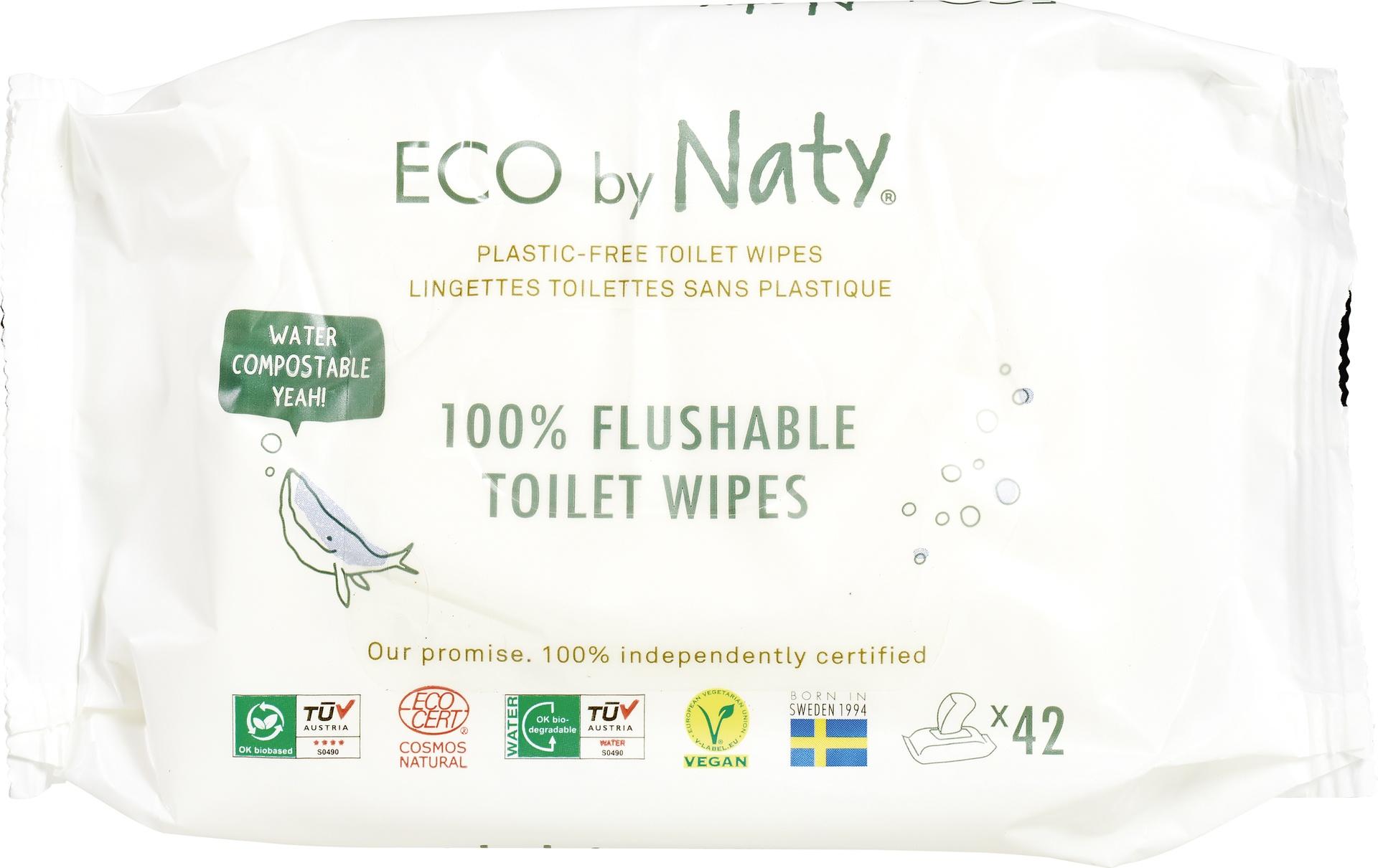 Biologische Naty Sensitive flushable wipes 42 st
