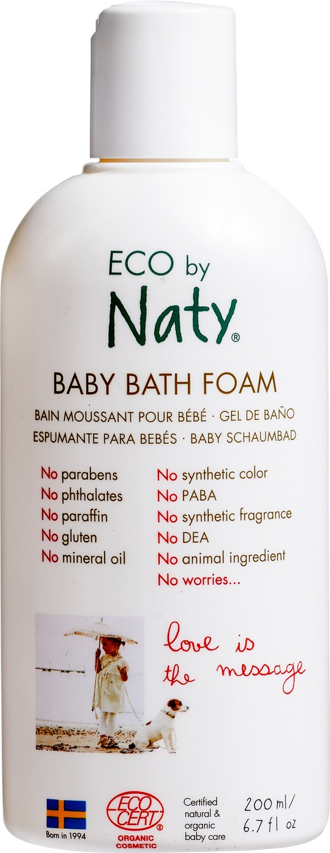 Biologische ECO by Naty Baby badschuim 200 ml