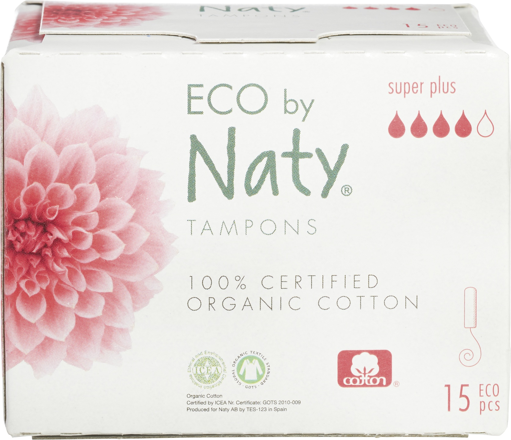 Biologische Naty Tampons super plus 15 st