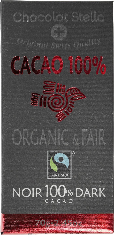 Biologische Chocolat Stella Pure chocolade 100% 70 gr
