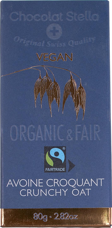 Biologische Chocolat Stella Vegan Crunchy oat 80 gr