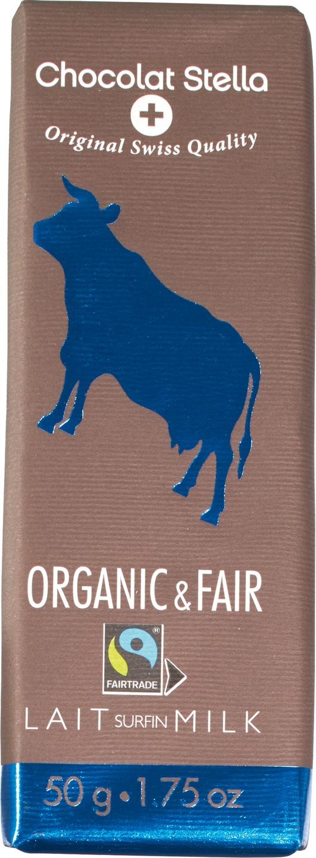 Biologische Chocolat Stella Organic & Fair milk 50 gr