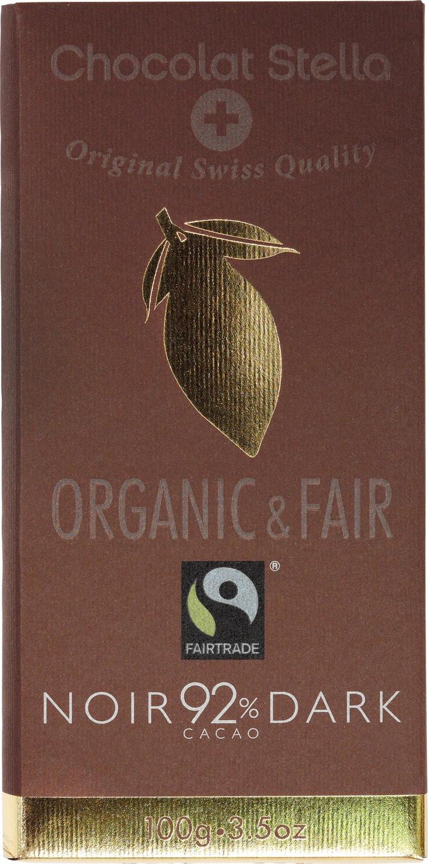 Biologische Chocolat Stella Pure chocolade 92% 100 gr