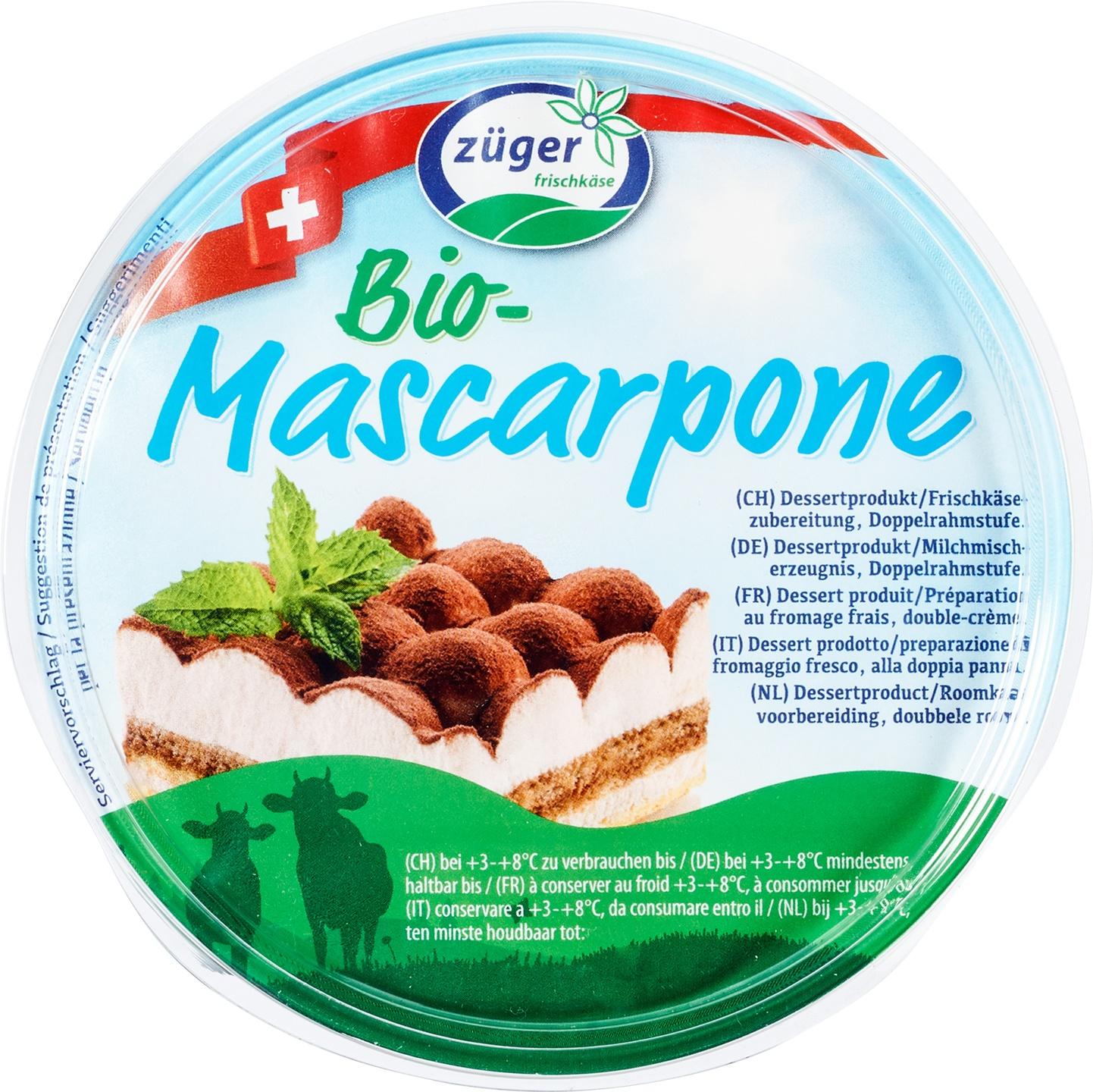 Biologische Züger Mascarpone Bio 250 gr