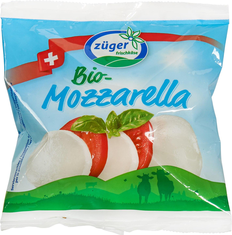 Biologische Züger Mozzarella 45+ 100 gr