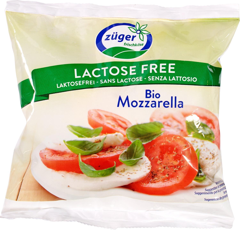 Biologische Züger Lactosevrije mozzarella 45% 100 gr