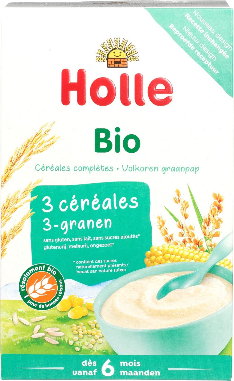 Biologische Holle Babypap 3-granen 6+ mnd 250 gr