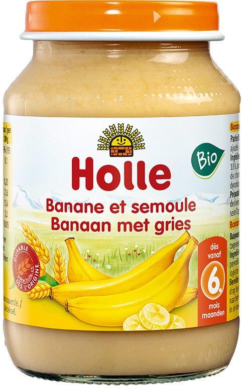 Biologische Holle Fruithapje banaan met gries 6+ mnd 190 gr