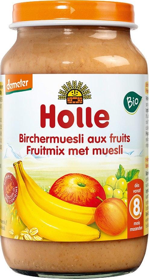 Biologische Holle Fruithapje fruitmix met muesli 8+ mnd 220 gr