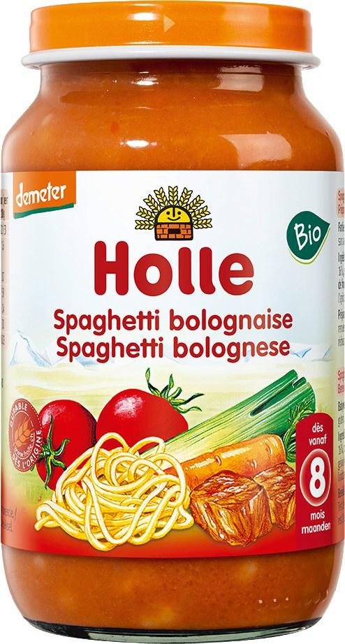 Biologische Holle Babyhapje spaghetti bolognese 8+ mnd 220 gr
