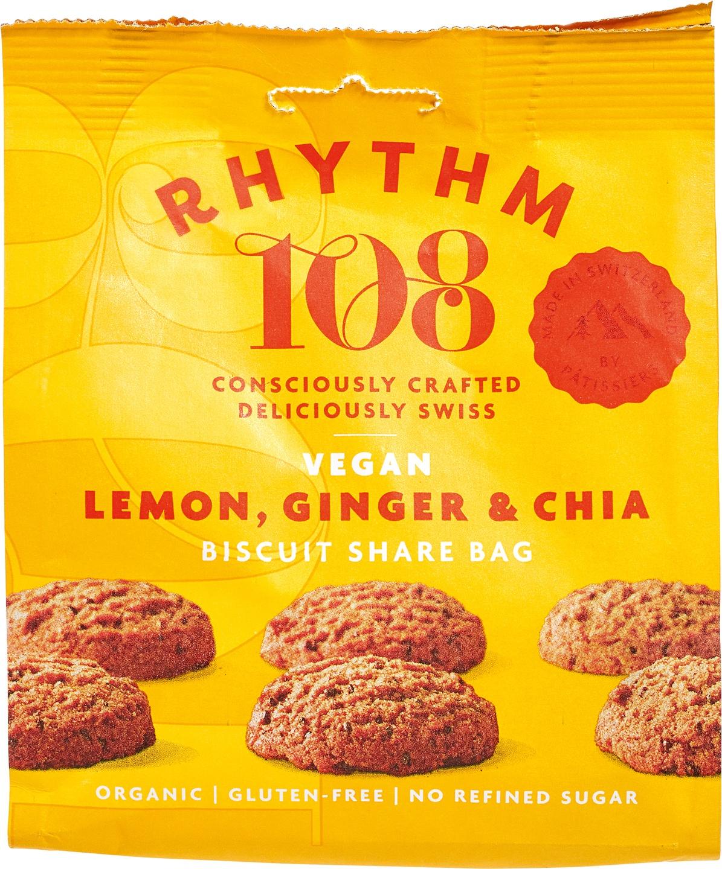 Biologische Rhythm 108 Citroen gember chia biscuit 135 gr