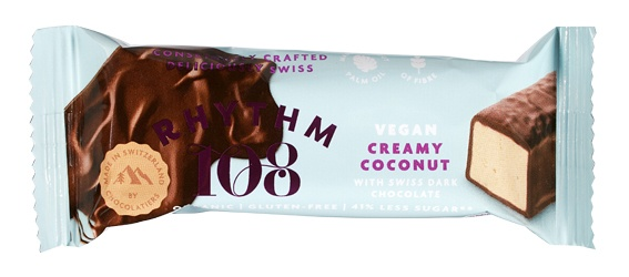 Biologische Rhythm 108 Vegan chocoladebar kokos 33 gr