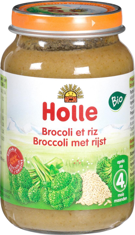 Biologische Holle Babyhapje broccoli rijst 4+ mnd 190 gr