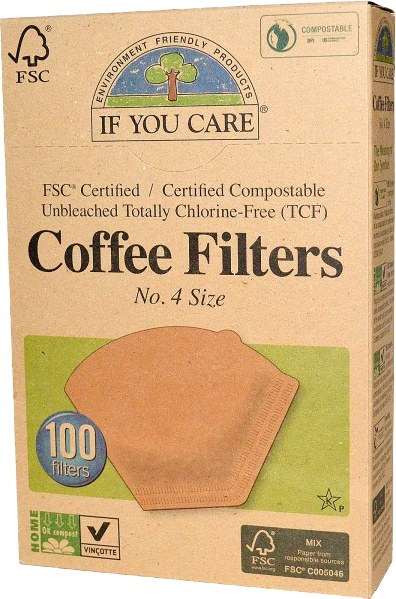 Biologische If You Care Koffiefilters nr. 4 100 st