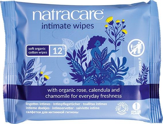 Biologische Natracare Intimate wipes 12 st