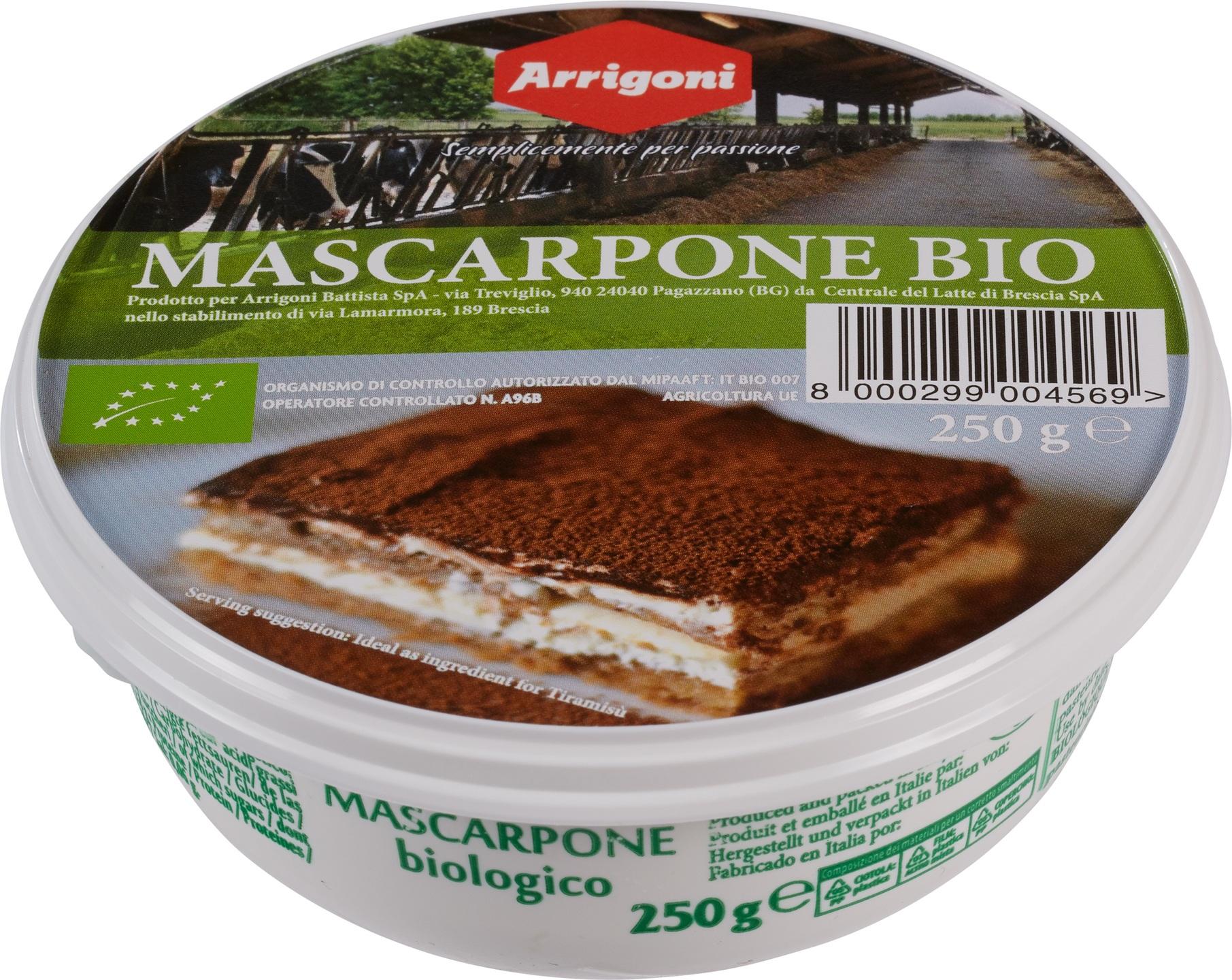 Biologische Arrigoni Mascarpone 250 gr