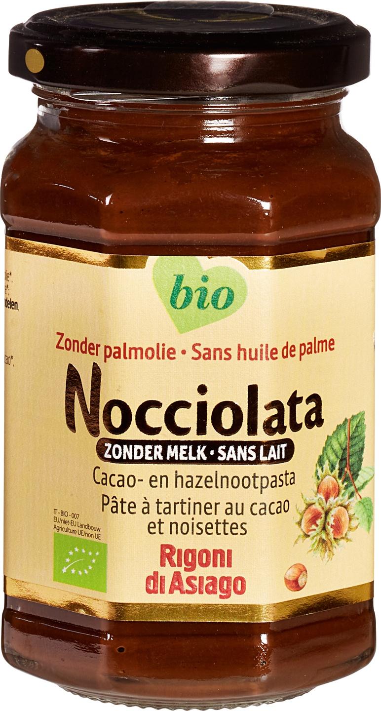 Biologische Nocciolata Choco-hazelnootpasta zonder melk 270 gr