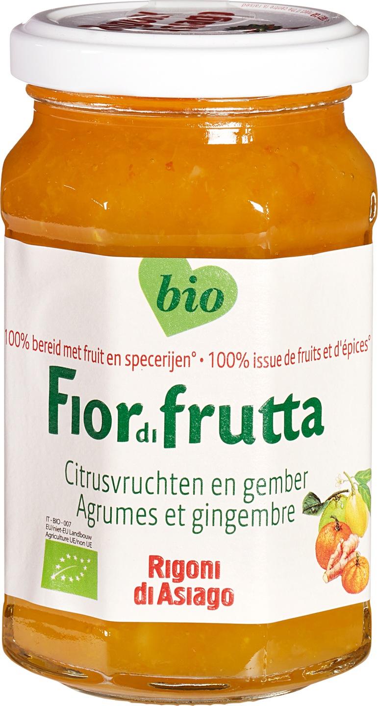 Biologische Fiordifrutta Citrus met gember fruitbeleg 260 gr