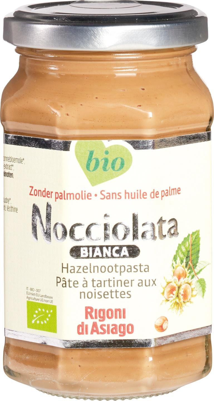 Biologische Nocciolata Hazelnootpasta bianca 270 gr