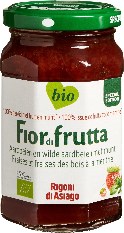 -23% SALE   Biologische Fiordifrutta Aardbei munt fruitbeleg 250 gr