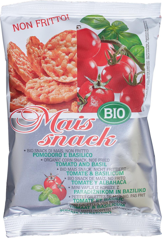 Biologische Bio Alimenti Maiswafels tomaat/ basilicum 50 gr