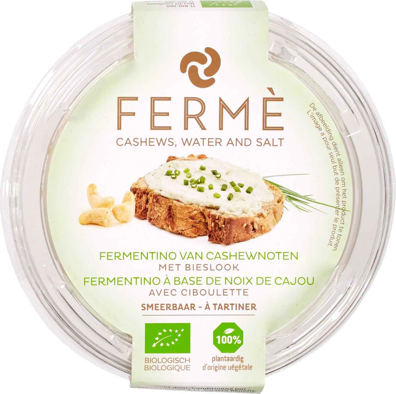 Biologische Fermé Cashew fermentino spread bieslook 100 gr