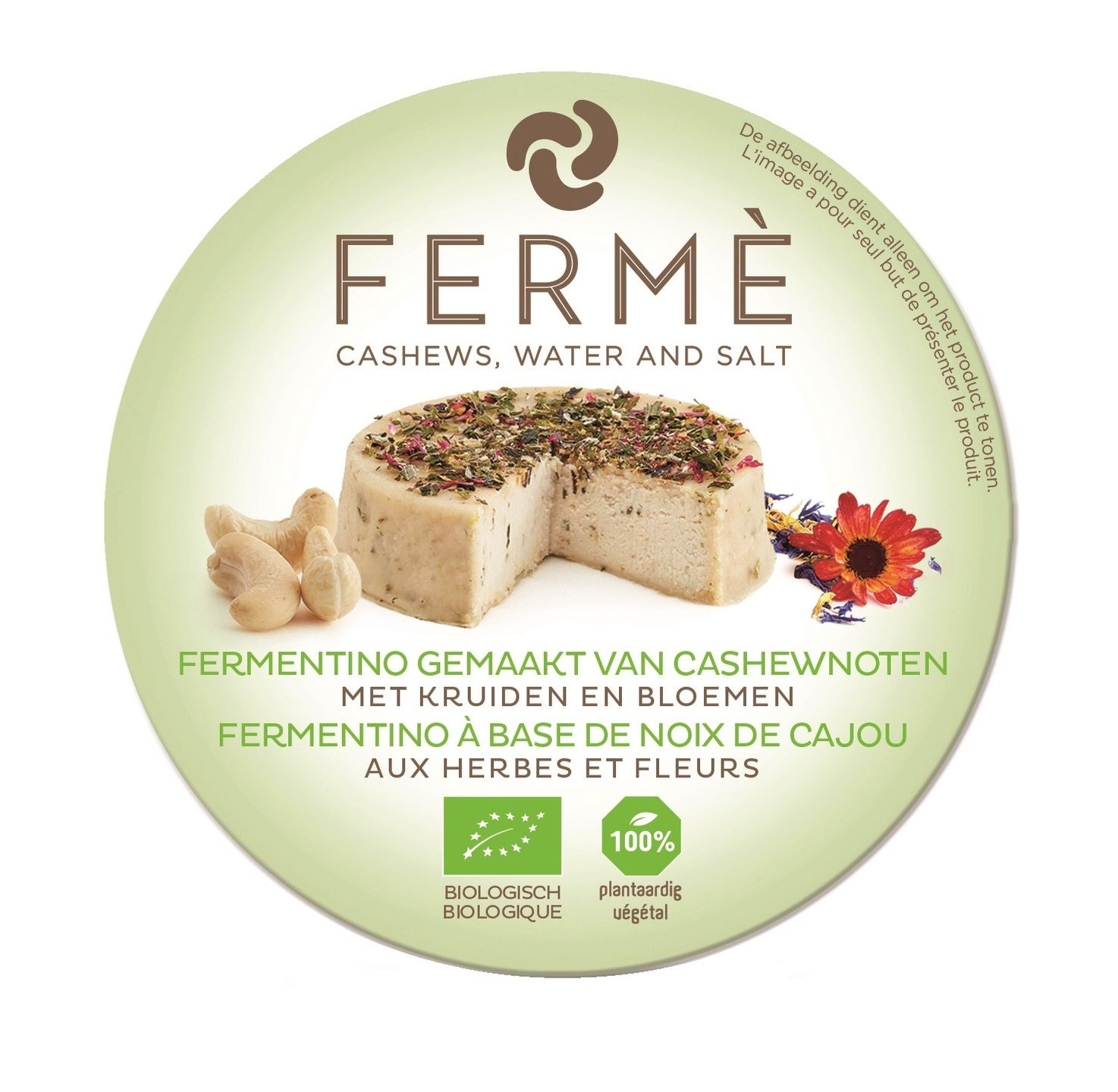 Biologische Fermé Cashew fermentino kruiden/bloemen 90 gr