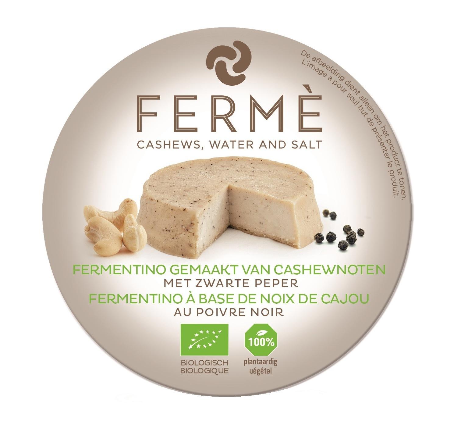 Biologische Fermé Cashew fermentino met zwarte peper 90 gr