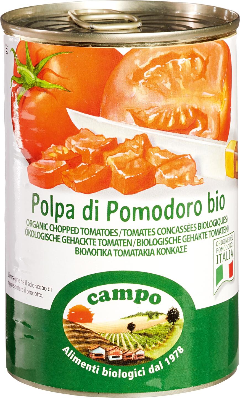 Biologische Campo Tomaten blokjes 400 gr
