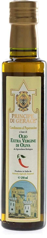 Biologische Principe di Gerace Olijfolie extra vierge chili Italiaans 250 ml