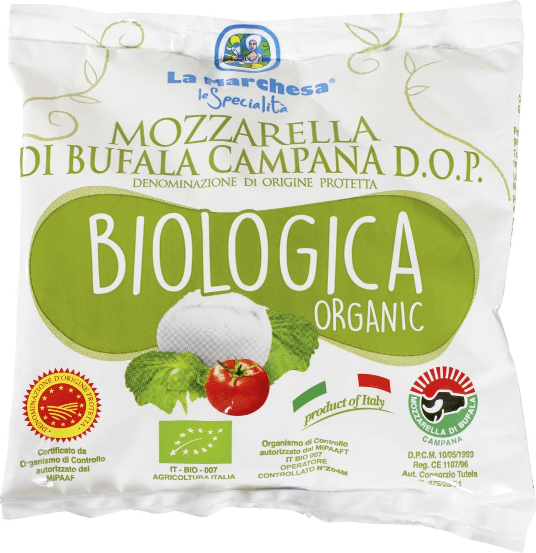 Biologische La Marchesa Buffel Mozzarella 125 gr