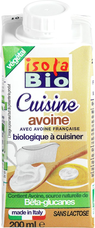 Biologische Isola Bio Haver cuisine 200 ml