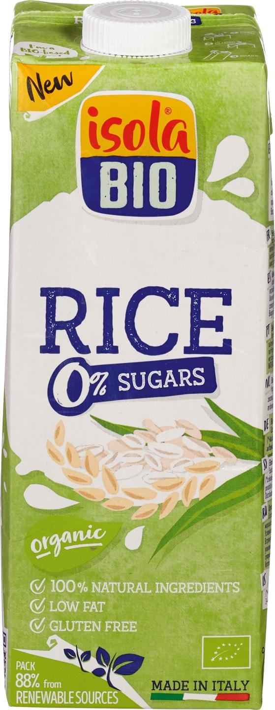 Biologische Isola Bio Rijstdrink 0% suiker 1 L