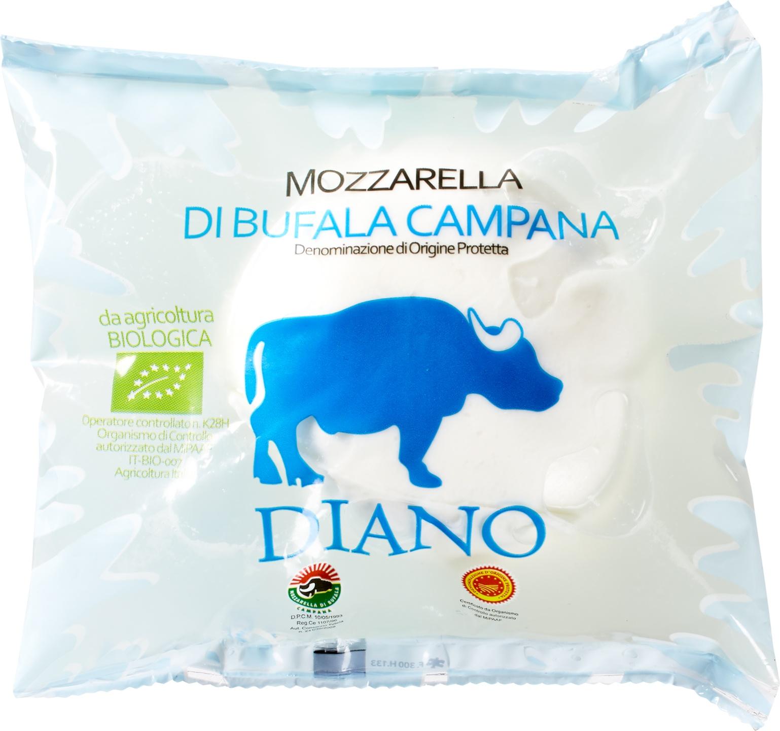 Biologische Diano Casearia Buffelmozzarella 125 gr