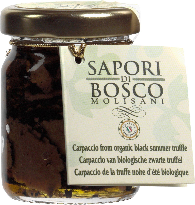 Biologische Sapori di Bosco Carpaccio van zwarte zomertruffel 40 gr