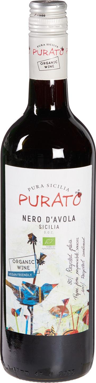 Biologische Purato Nero d'Avola 750 ml