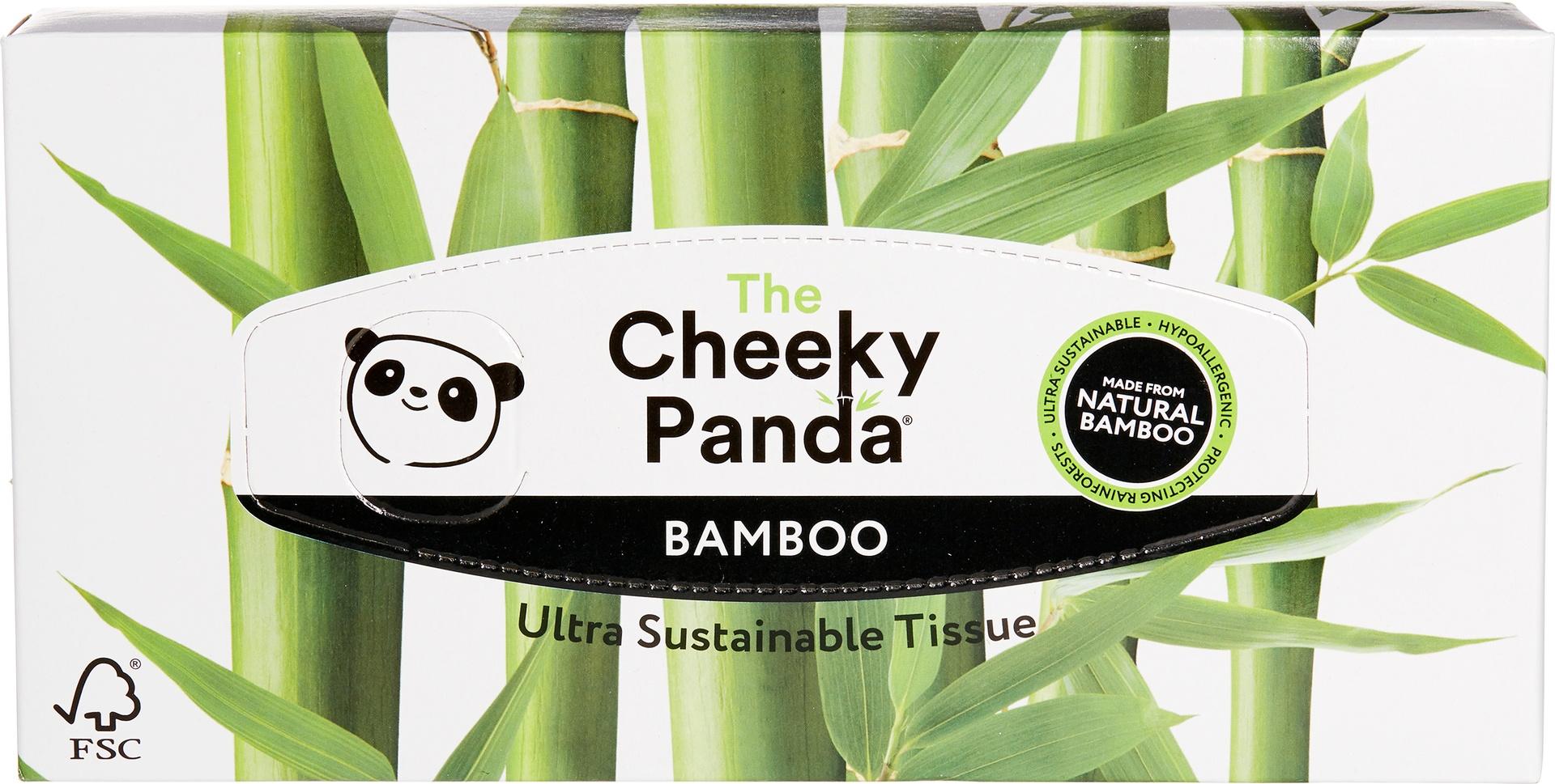 Biologische Cheeky Panda Tissues 3-laags bamboe 1 doos