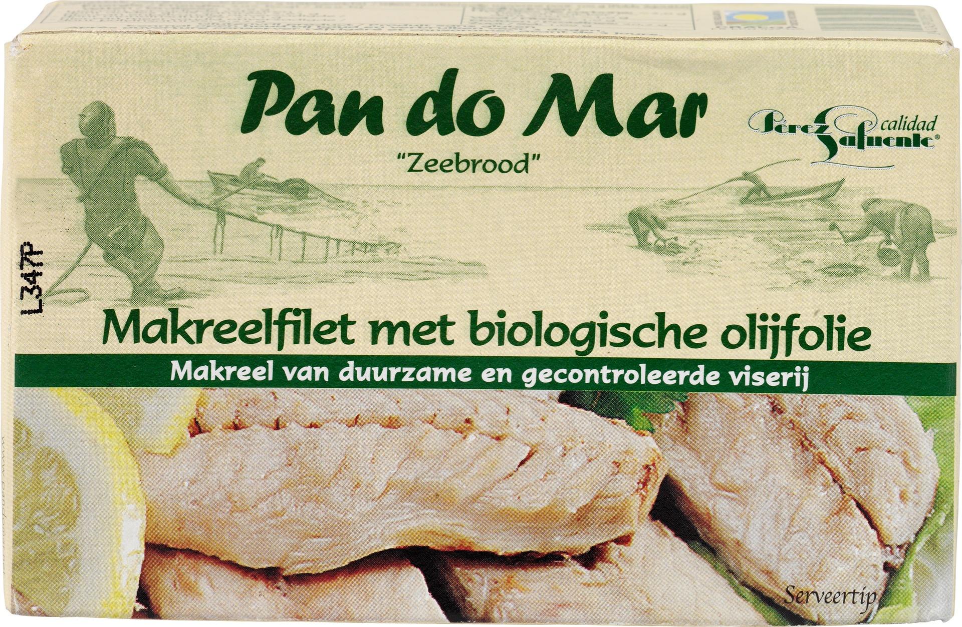 Biologische Pan do Mar Makreelfilet in olijfolie 120 gr
