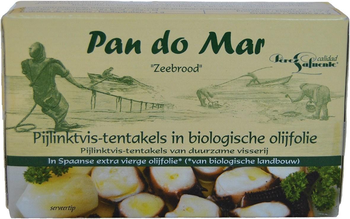 Biologische Pan do Mar Octopus in olijfolie 120 gr