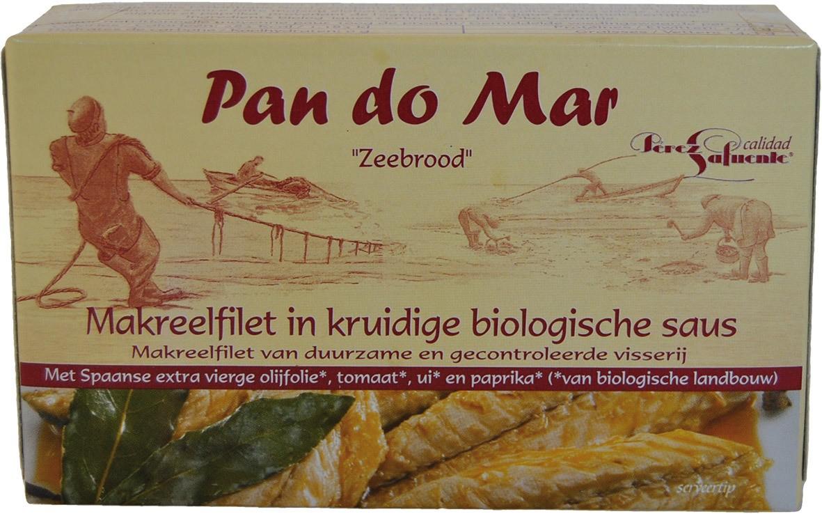 Biologische Pan do Mar Makreel in kruidige saus 120 gr