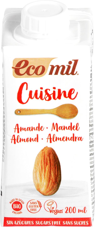 Biologische Ecomil Cuisine amandel 200 ml