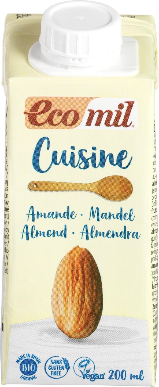 Biologische Ecomil Cuisine amandel met stroop 200 ml