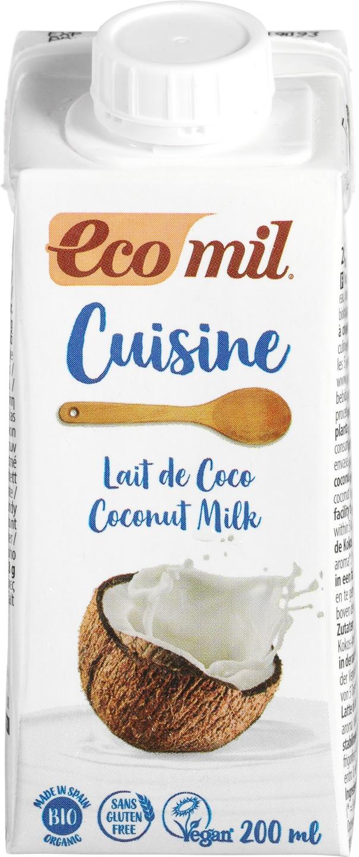 Biologische Ecomil Cuisine kokos 200 ml