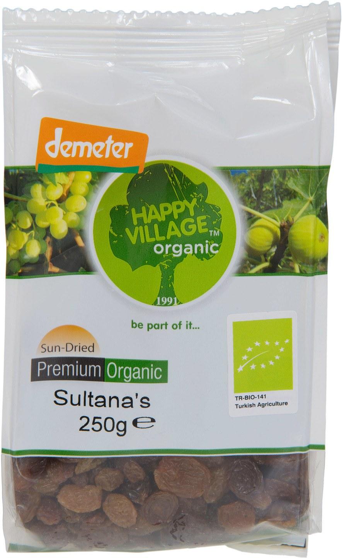 Biologische Happy Village Rozijnen Sultana 250 gr