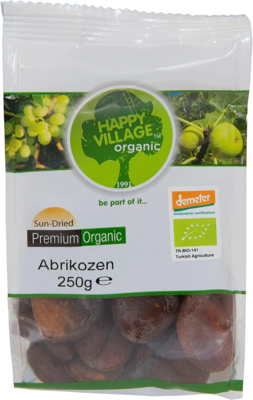 Biologische Happy Village Gedroogde abrikozen 250 gr