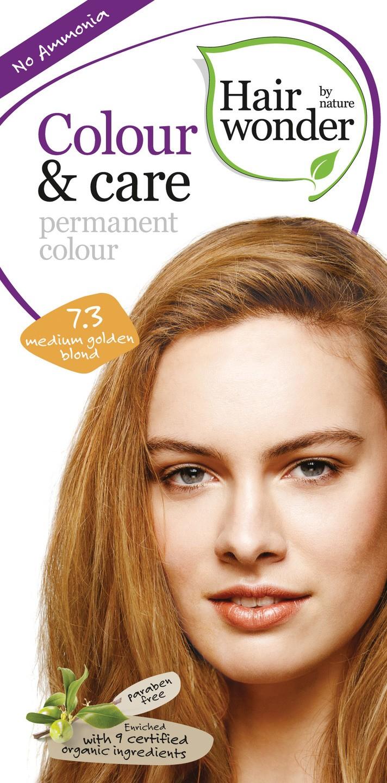 Biologische Hairwonder Colour & Care Medium Golden blond 7.3 100 ml