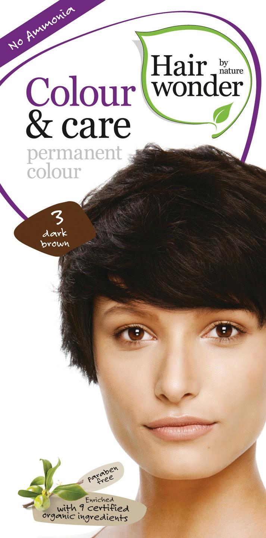 Biologische Hairwonder Colour & Care Dark brown 3 100 ml