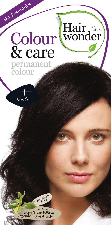 Biologische Hairwonder Colour & Care Black 1 100 ml